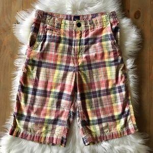 GAP KIDS Boy's 14 Plaid Shorts EUC